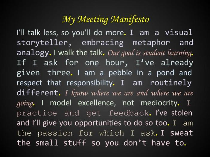 My Meeting Manifesto